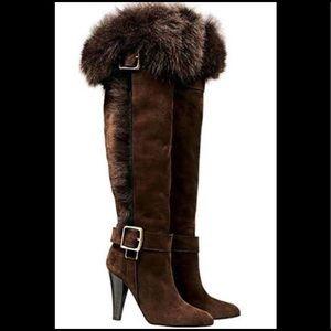 Coach Mazur Fur Boots